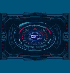 Car service futuristic dashboard design on a vector