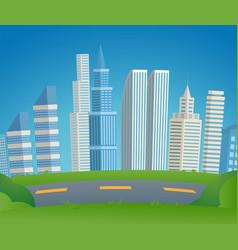 cartoon cityscape metropolis vector image