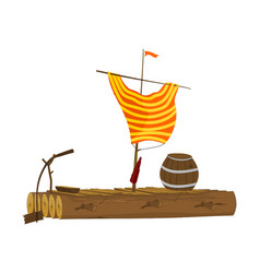 Cartoon raft vector