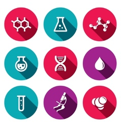Chemistry icon set vector