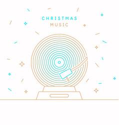 christmas banner poster vinyl record vector image