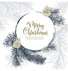 christmas sketch hand drawn vector image