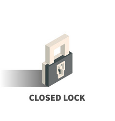 closed lock icon symbol vector image