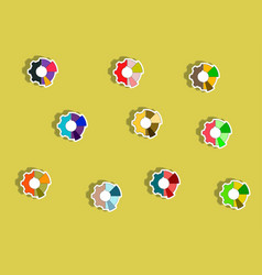 Collection of in paper sticker vector