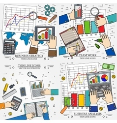 Concepts for business analysis and planning vector image