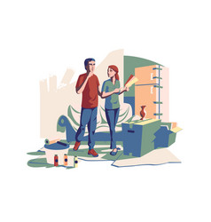 couple choosing color new design vector image