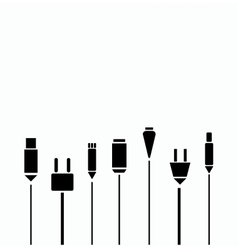Different connection plugs and wires vector image