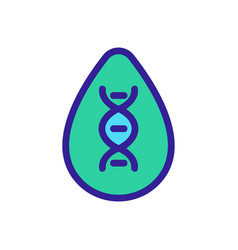 Dna study icon isolated contour symbol vector
