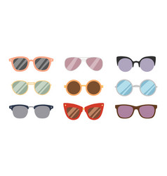 fashion sunglasses accessory sun glasses vector image