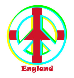 Flag of england as a sign of pacifism vector