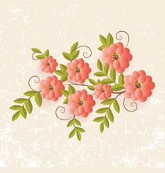 Floral design element for page vector