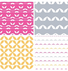 Four bstract leaf shapes geometric patterns vector image