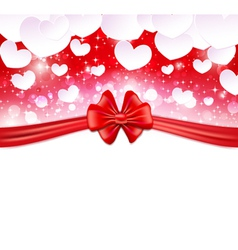 Glowing background with paper hearts vector image