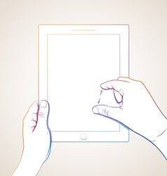 Hand Pinch Tablet vector