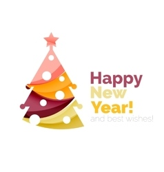 Happy New Year and Chrismas holiday greeting card vector