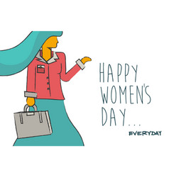 happy womens day business lady design vector image