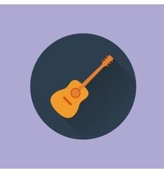 Icon guitar flat vector