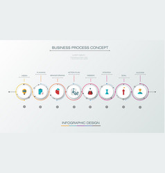 infographic label design with 8 options vector image