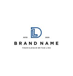 Letter ld logo design vector