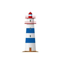 lighthouse nautical sea tower light house beacon vector image