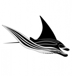 Manta ray tattoo vector
