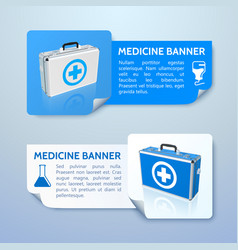 Medical treatment horizontal banners vector