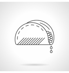 Mexican taco flat thin line icon vector image