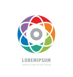 multimedia concept business logo design atom vector image