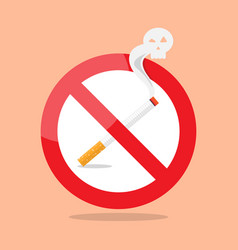 no smoking prohibition sign vector image