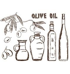 olive oils olives doodle vector image