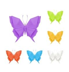 origami butterflies set vector image