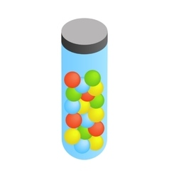 Paintballs in the case isometric 3d vector