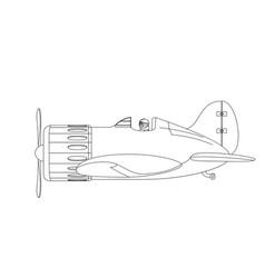 Plane cartoon vector