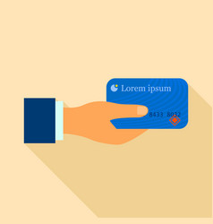 plastic card icon flat style vector image