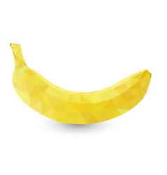 polygonal fruit - banana vector image