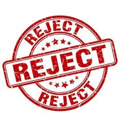 Reject red grunge round vintage rubber stamp vector