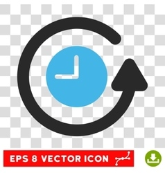Restore Clock Eps Icon vector