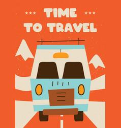 retro travel concept design vector image