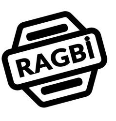 Rugby black stamp vector