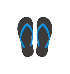 sandal graphic design template vector image