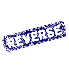 Scratched reverse framed rounded rectangle stamp vector