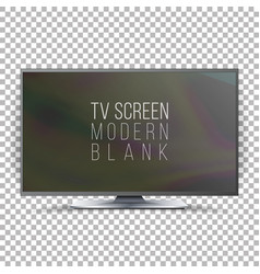 Screen lcd plasma realistic flat smart tv vector