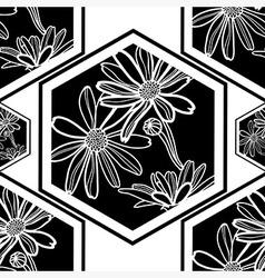 Seamless flowerlogo pattern 3 vector