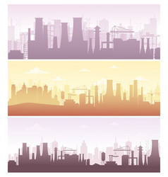 set of industrial backgrounds vector image