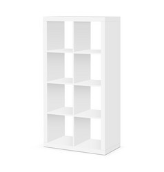 shelves and shelving mockup vector image