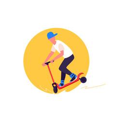 Skateboard driving vector