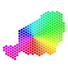Spectrum hexagon niger map vector