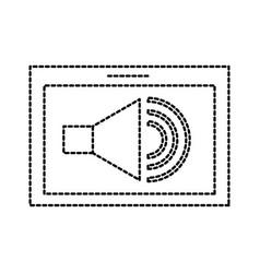 Tablet speaker audio technology button online vector