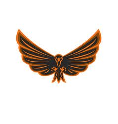 talisman flying eagle logo bird prey vector image