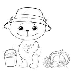 teddy bear gardener vector image